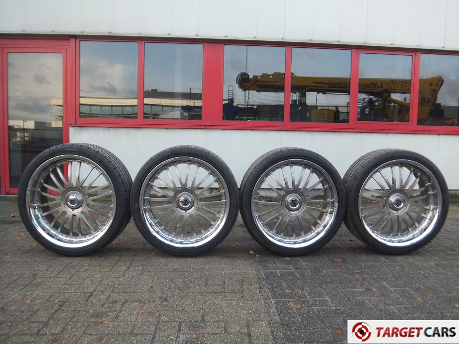 SEAN JOHN CUSTOM 24INCH CHROME WHEEL SET OF ROLLS ROYCE PHANTOM