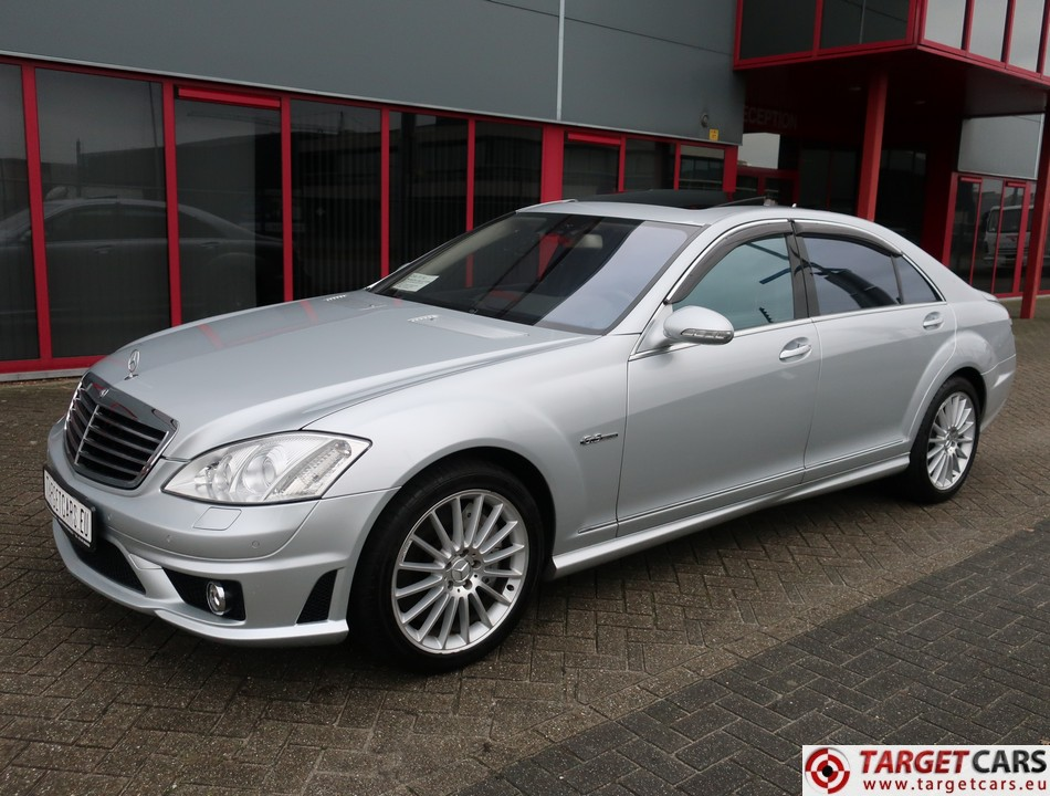 MERCEDES S63 L AMG LONG V221 SEDAN 6.2L V8 525HP AUT 07-09 SILVER 96030KM LHD