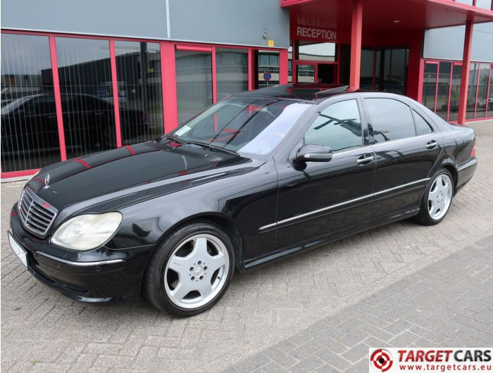 MERCEDES S55L AMG LONG SEDAN 5.0L V8 360HP AUT 06-01 BLACK 97597KM LHD