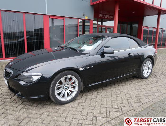 BMW 645CI E64 CABRIO 4.4L AUT 08-2004 BLACK 333HP 93431MILES RHD