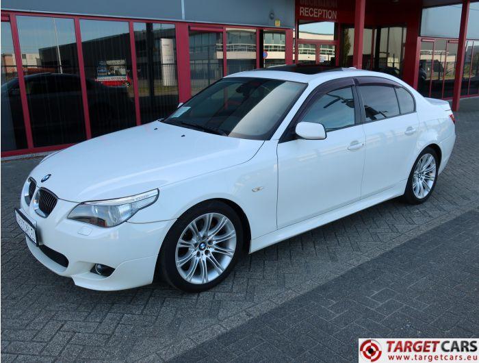 BMW 525I E60 SEDAN 2.5L M-SPORT 218HP 06-06 WHITE 76942KM LHD