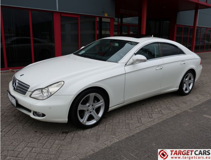 MERCEDES CLS500 COUPE SEDAN 5.5L V8 387HP AUT 06-07 WHITE 61216KM LHD