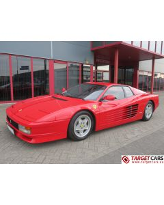 FERRARI TESTAROSSA 4.9L 390HP COUPE 06-1993 RED 34705KM LHD
