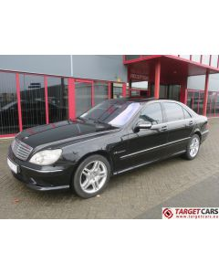 MERCEDES S55L AMG LONG SEDAN 5.4L V8 KOMPRESSOR 500HP AUT 03-03 BLACK 85966KM LHD