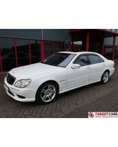 MERCEDES S55L AMG LONG SEDAN 5.4L V8 KOMPRESSOR 500HP AUT 04-03 WHITE 57790KM LHD
