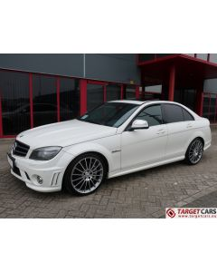MERCEDES C63 AMG W204 SEDAN 6.2L V8 457HP AUT 06-08 WHITE 83570KM LHD