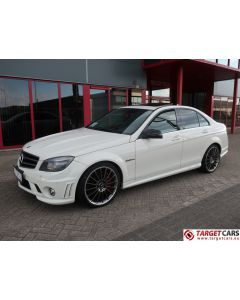 MERCEDES C63 AMG W204 SEDAN 6.2L V8 457HP AUT 01-09 WHITE 63123KM LHD